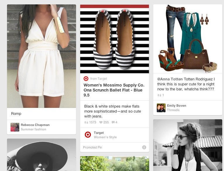 Promoted Pin bei Pinterest